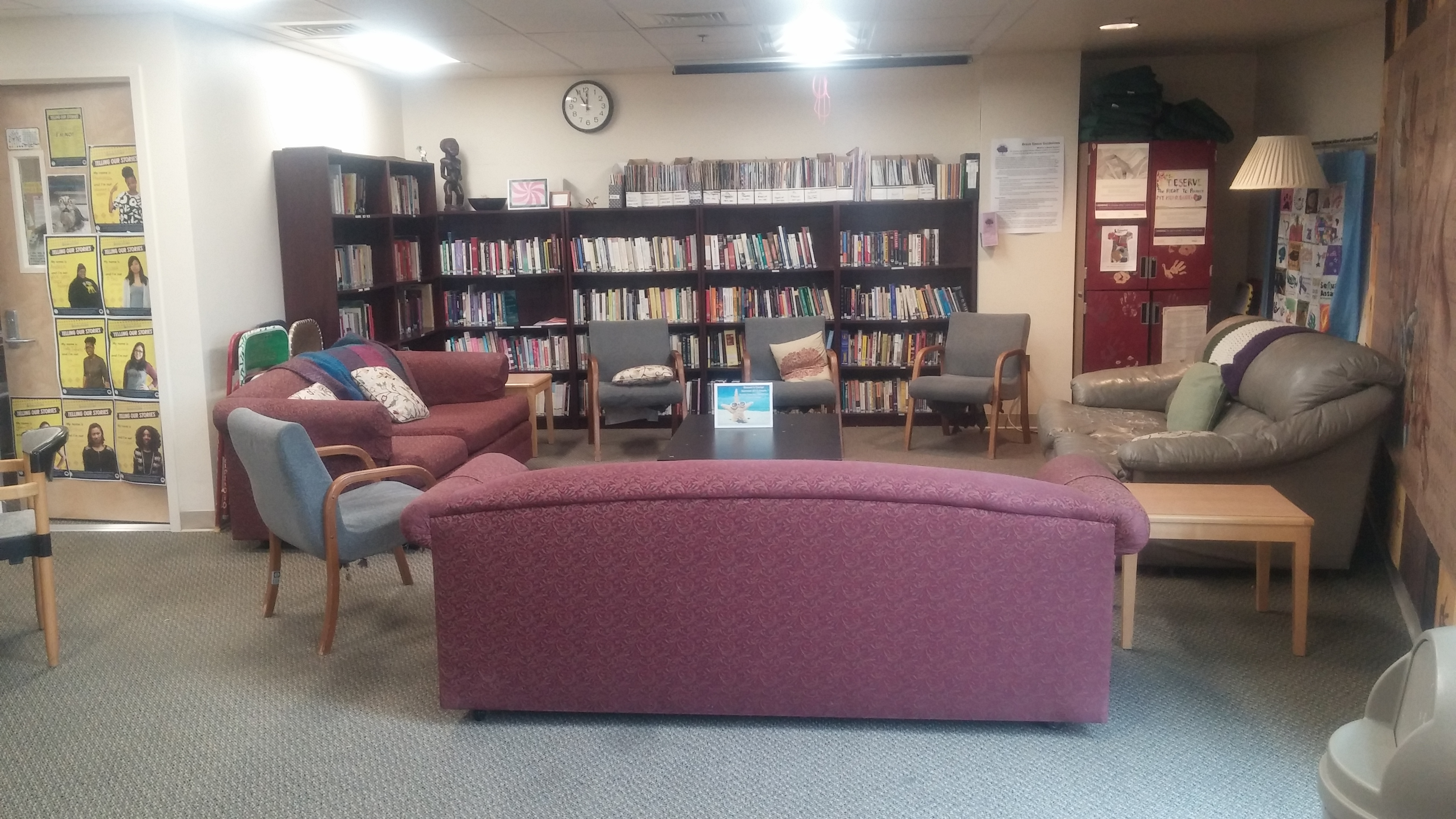Books and magazines are available to borrow through our lending library. Stop by the front desk to check out any reading material.