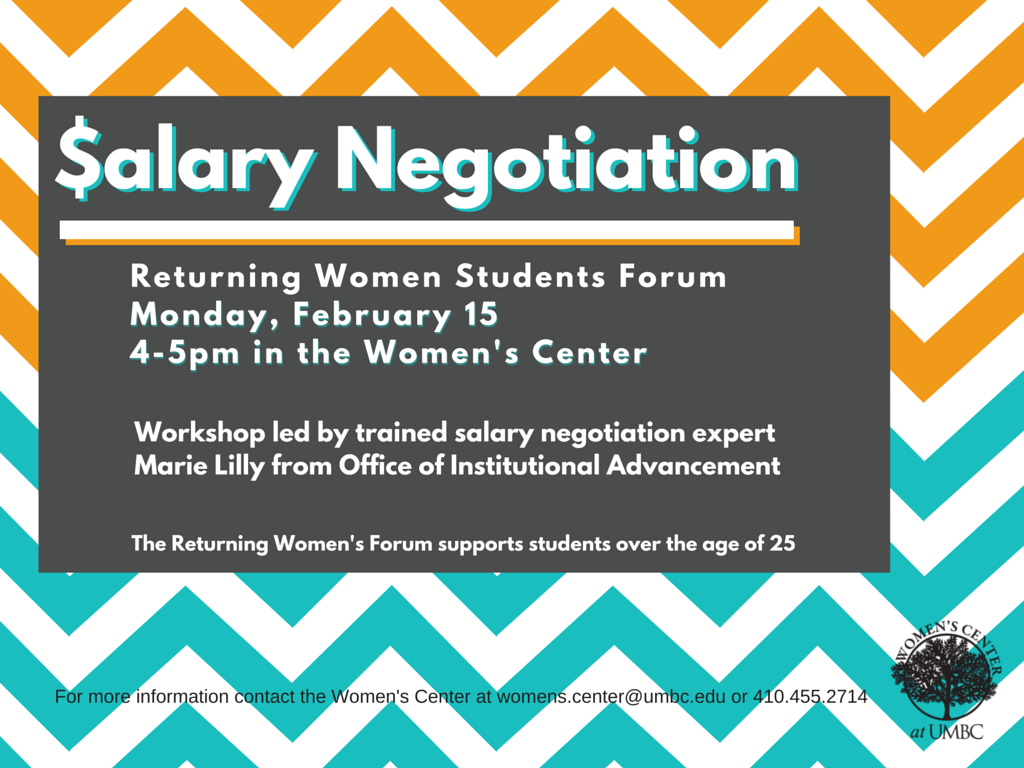 Returning Women Students Forum: Salary Negogiation