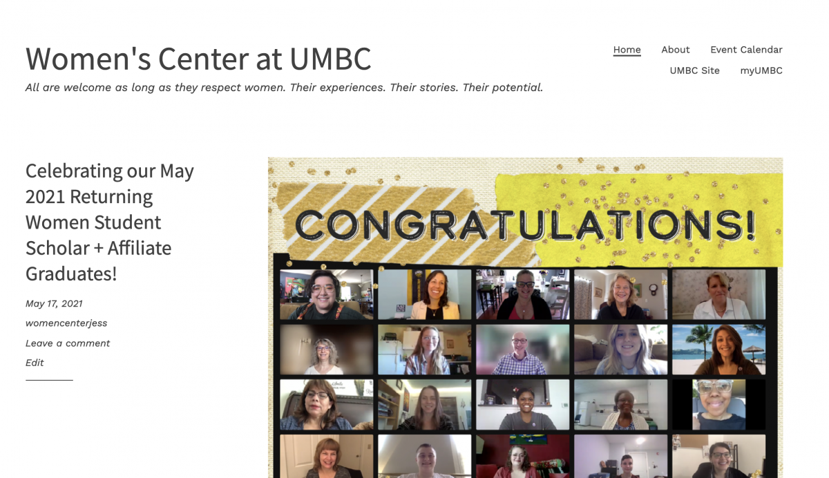 Check out the Women's Center Blog!